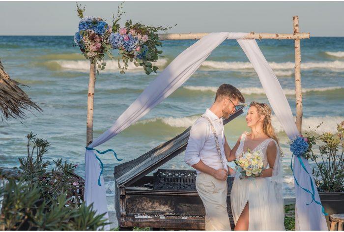 nuntă pe plajă