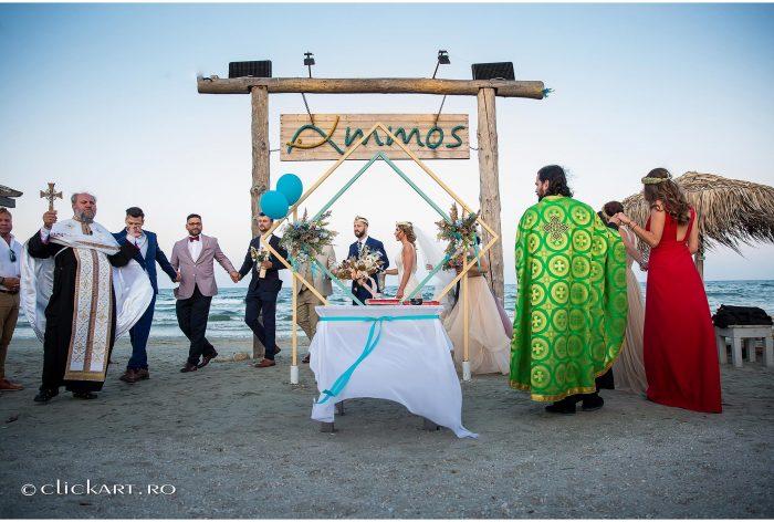 ceremonie ortodoxa pe plaja