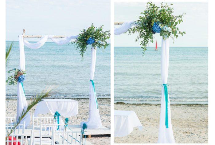 arcada nunta pe plaja
