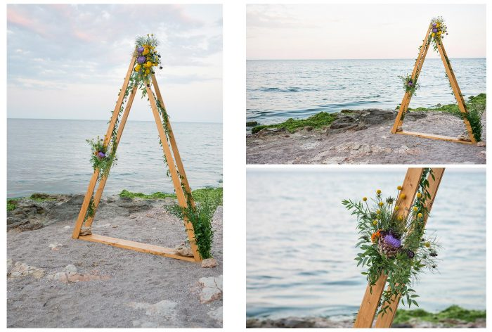 arcada decor nunta la mare