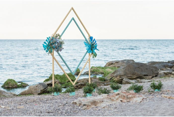 arcada decor nunta la malul marii