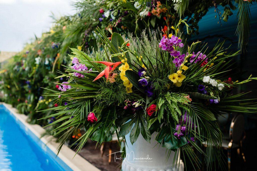 nunta cu tematica tropicala la conac